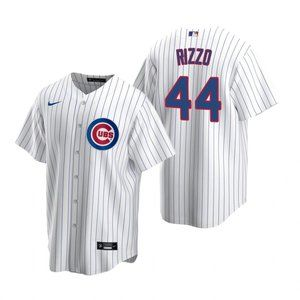 Chicago Cubs #44 Anthony Rizzo Jersey white